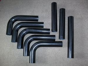 Carbon fibre boost pipes